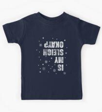 "Winter Sports. Sleigh Crash. Funny Saying. Sarcasm Nerd T-Shirt: ""Is my sleigh ok?"" Kids Clothes"