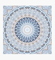Serenity Mandala in Blue, White & Ivory Photographic Print