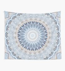 Serenity Mandala in Blue, White & Ivory Wall Tapestry