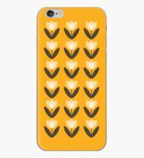 Tulpenmuster-Telefon-Kasten im Senf-Gelb iPhone-Hülle & Cover