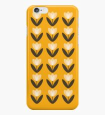 Tulip Pattern Phone Case in Mustard Yellow iPhone 6s Case