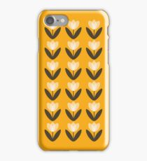 Tulip Pattern Phone Case in Mustard Yellow iPhone 7 Case