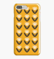 Tulip Pattern Phone Case in Mustard Yellow iPhone 7 Plus Case
