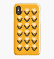 Tulip Pattern Phone Case in Mustard Yellow iPhone Case
