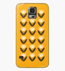 Tulip Pattern Phone Case in Mustard Yellow Case/Skin for Samsung Galaxy