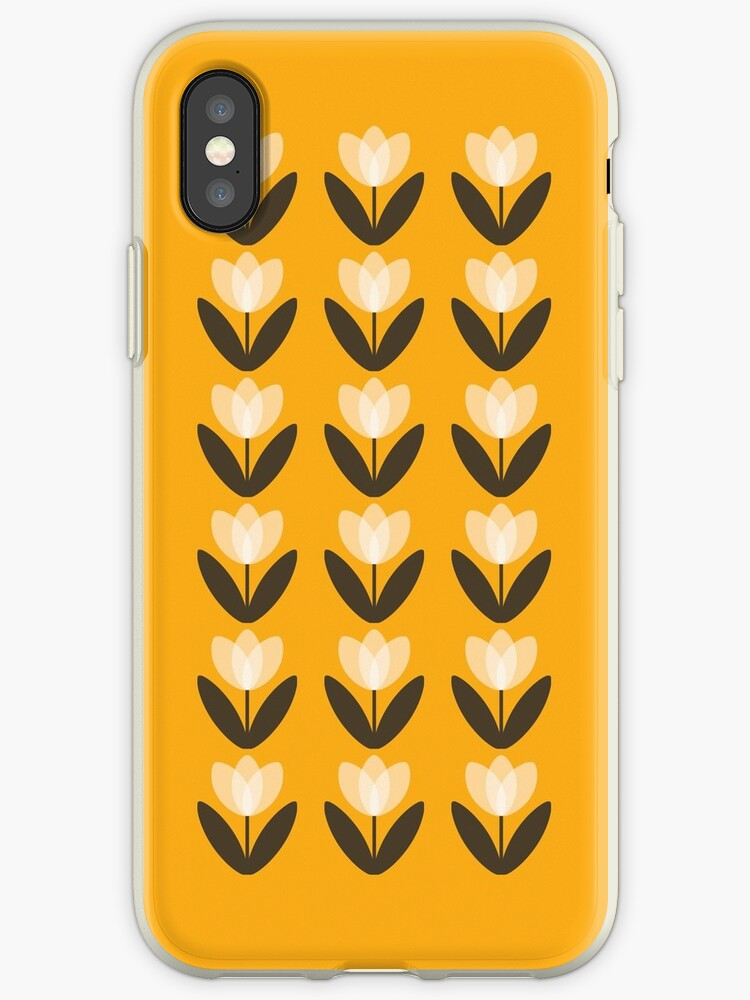 Tulip Pattern Phone Case in Mustard Yellow by SuzieLondon