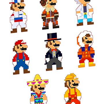 Super Mario Outfits by JohnnyPixel