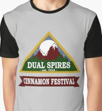 Dual Spires - Psych Graphic T-Shirt