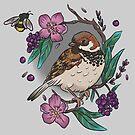 Sparrow design bumblebee by Wieskunde