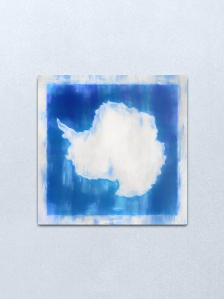 Alternate view of Antarctica Flag Reworked No. 2, Series 1 Metal Print