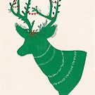 Green Stag by Sybille Sterk