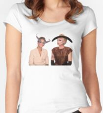 Raja and Raven Sticker Women's Fitted Scoop T-Shirt