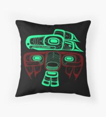 Native American Style Art: Tlingit thunderbird Throw Pillow