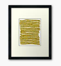 Gold Lines Framed Print