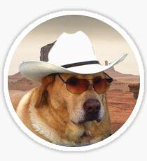 Doggo Stickers: Cowboy Sticker