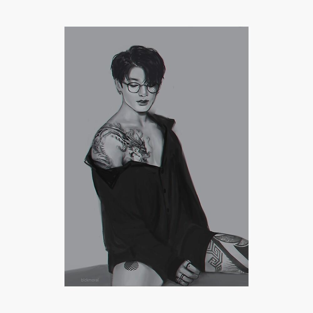 BTS Jungkook Dragon Tattoo  Photographic Print