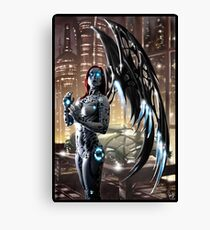 Robot Angel Painting 009 Canvas Print