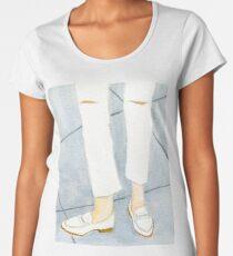 White on White Loafers Women's Premium T-Shirt