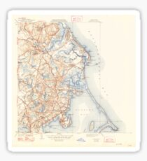 Massachusetts  USGS Historical Topo Map MA Duxbury 351639 1941 31680 Sticker