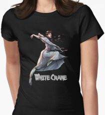 White Crane kung fu Women's Fitted T-Shirt