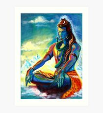 Shiva in Meditation Art Print