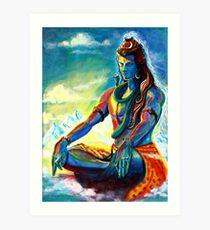 Majestätischer Herr Shiva in der Meditation Kunstdruck