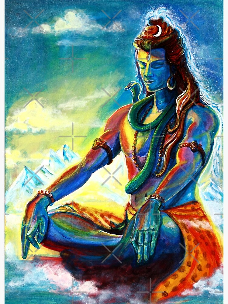 Majestic lord Shiva in Meditation by sania