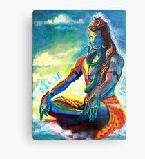 Shiva in Meditation Metal Print