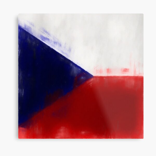 Czech Republic Flag Reworked No. 1, Series 1 Metal Print