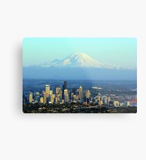Rainier Beyond Seattle Metal Print