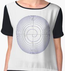 Spiral: Plot x=q*cos(pi*2^q), y=q*sin(pi*2^q),   q = 0 to 5 Chiffon Top