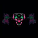 Triniti's Pink Dragon with Green Eyes / Black by sourceindie
