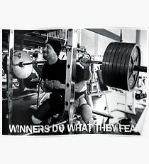 Winners Do What They Fear Poster