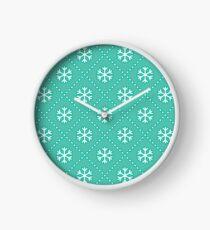 Let It Snow - Mint Clock