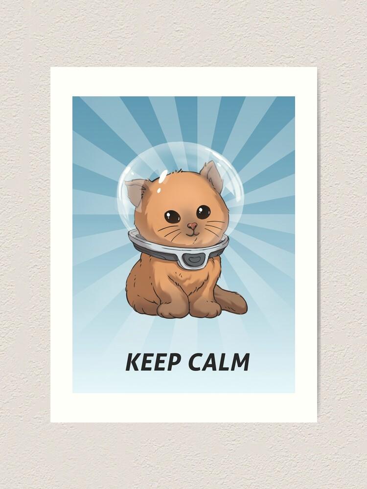 Alternate view of Keep Calm Kitty Art Print