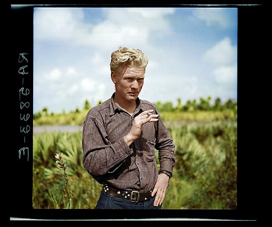 A migrant worker from Oklahoma, 1937 by Colorem