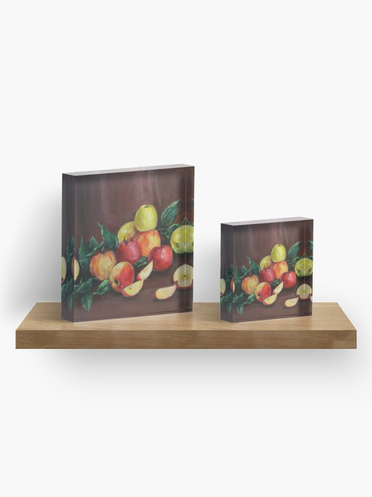 Alternate view of Apples Acrylic Block
