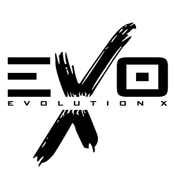 EVOLUTION X - LOGO (Black) by nateross40