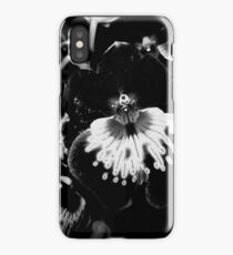 Black and White Orchid  iPhone Case/Skin