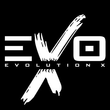 EVOLUTION X - LOGO (white) by nateross40