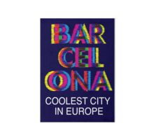 Pegatinas «Barcelona Glitch Psychedelic Coolest City in Europe» de ... 3e944b176d5