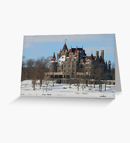 WINTRY BOLDT CASTLE Greeting Card