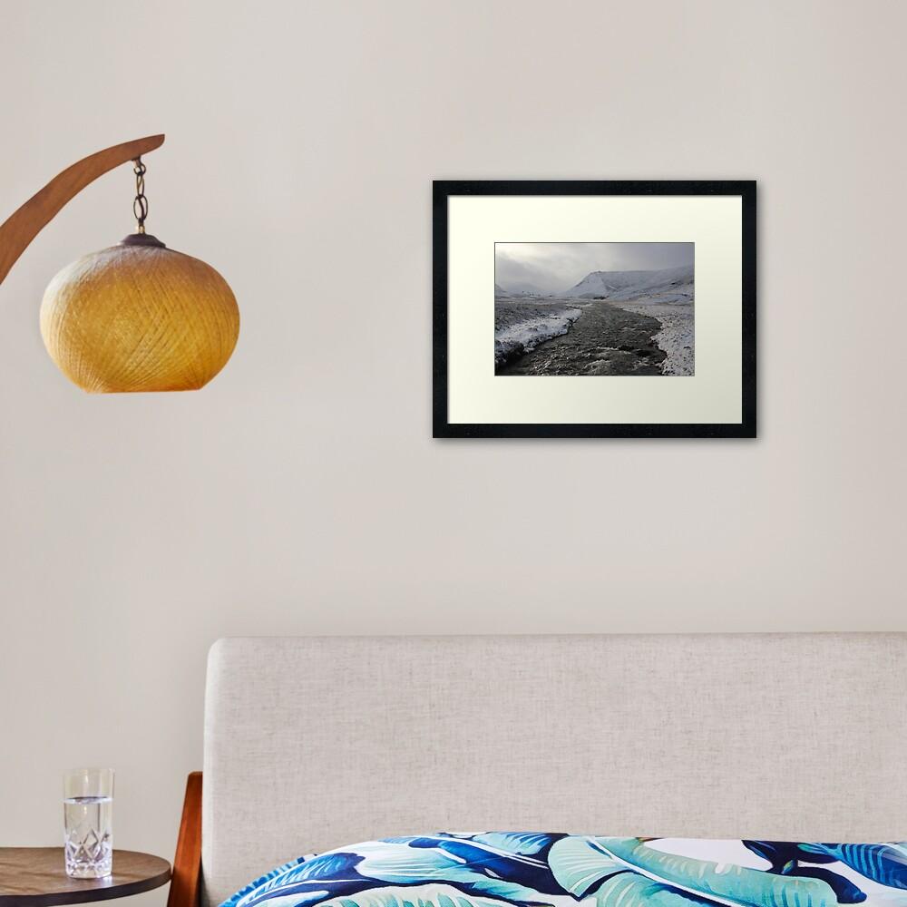 Winter river Framed Art Print