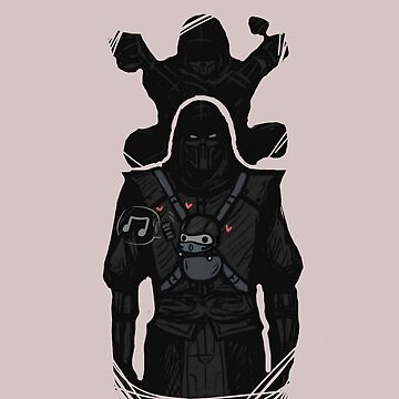 Noob Saibot Babysitting by sketchydrawer