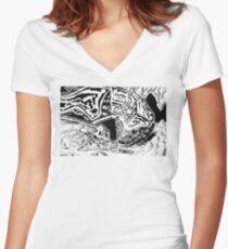 Dragon Slayer! Women's Fitted V-Neck T-Shirt