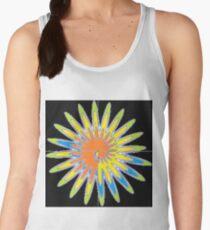Spiral - Colored Flower Women's Tank Top