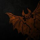 Basilica Corps Bat - Orange on Black by eps-aneedles