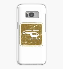 Helicopter Vintage Signs Samsung Galaxy Case/Skin