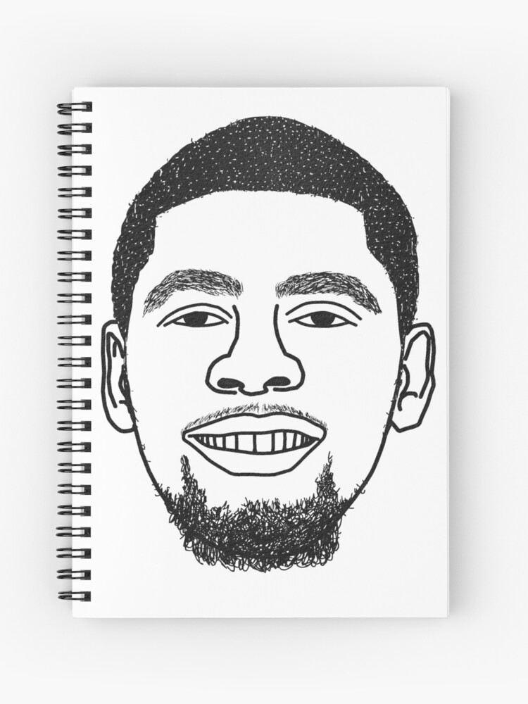 buy popular 9555a bf6fb Kyrie Irving Cold Chilling Boston Celtics Minimalist Black and White Design  Drawing Spiral Notebook