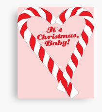 Candy Cane - It's Christmas, Baby! #xmas #christmas #minimal #love #design Canvas Print